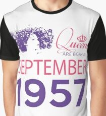 It's My Birthday 61. Made In September 1957. 1957 Gift Ideas. Graphic T-Shirt