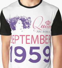 It's My Birthday 59. Made In September 1959. 1959 Gift Ideas. Graphic T-Shirt