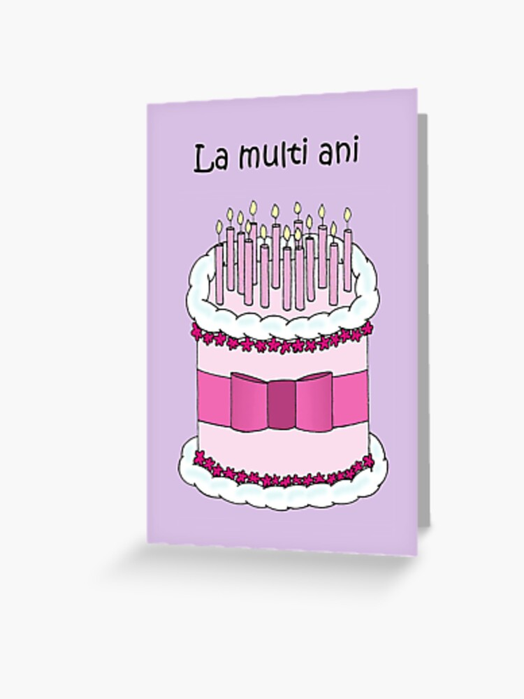 Fabulous Romanian Happy Birthday Cake And Candles Greeting Card By Personalised Birthday Cards Paralily Jamesorg