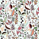 Bright Autumn Nature Doodle  by TigaTiga