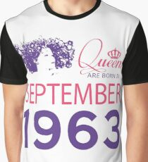 It's My Birthday 55. Made In September 1963. 1963 Gift Ideas. Graphic T-Shirt