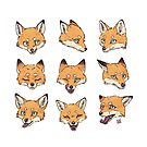 Snow Fox Pattern by freeminds