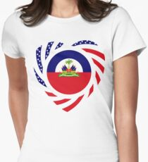 Haitian American Multinational Patriot Flag Series 2.0 Womens Fitted T-Shirt