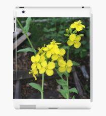 Yellow Mustard Green Flowers iPad Case/Skin