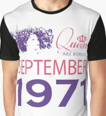 It's My Birthday 47. Made In September 1971. 1971 Gift Ideas. Graphic T-Shirt