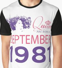 It's My Birthday 37. Made In September 1981. 1981 Gift Ideas. Graphic T-Shirt