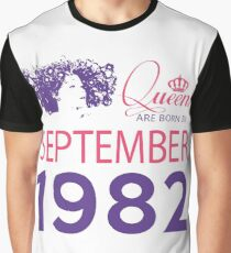 It's My Birthday 36. Made In September 1982. 1982 Gift Ideas. Graphic T-Shirt