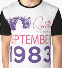 It's My Birthday 35. Made In September 1983. 1983 Gift Ideas. Graphic T-Shirt