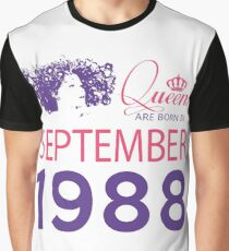 It's My Birthday 30. Made In September 1988. 1988 Gift Ideas. Graphic T-Shirt