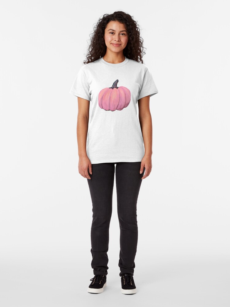 Alternate view of Pink Pumpkin, Fall Delight Classic T-Shirt