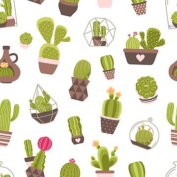Cute Cactus Pattern - [Indoor Plant Love] by xJLe