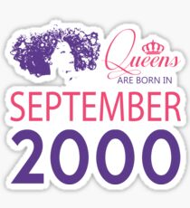 It's My Birthday 18. Made In September 2000. 2000 Gift Ideas. Sticker