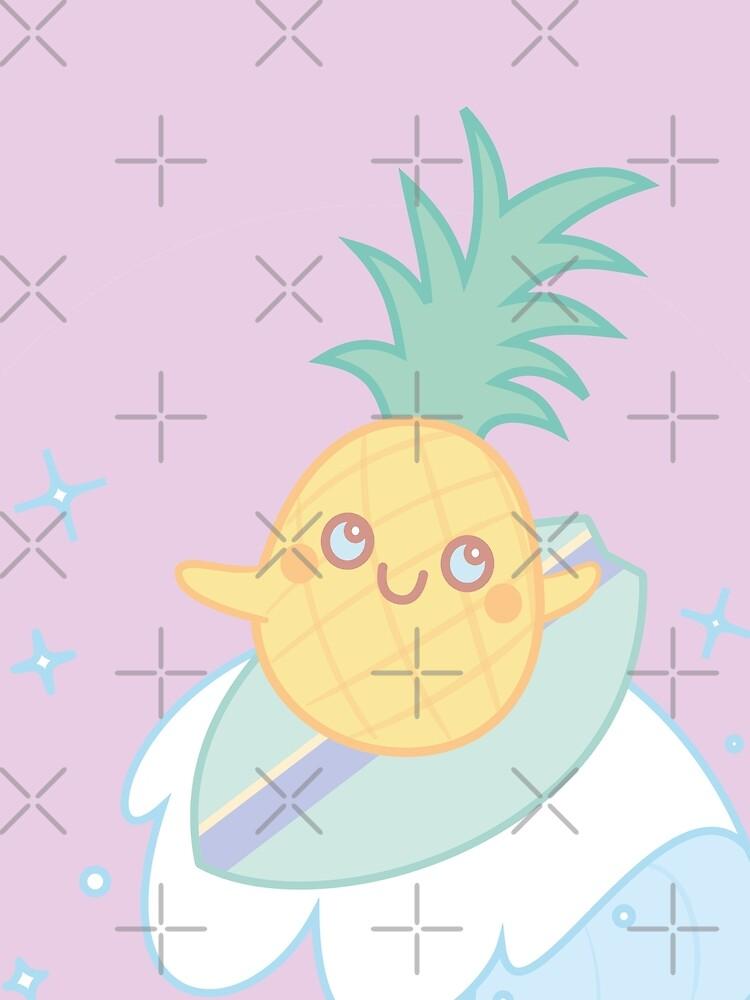 Pineapple Surfer by MinervaMarie