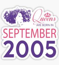 It's My Birthday 13. Made In September 2005. 2005 Gift Ideas. Sticker