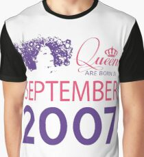 It's My Birthday 11. Made In September 2007. 2007 Gift Ideas. Graphic T-Shirt