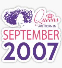 It's My Birthday 11. Made In September 2007. 2007 Gift Ideas. Sticker