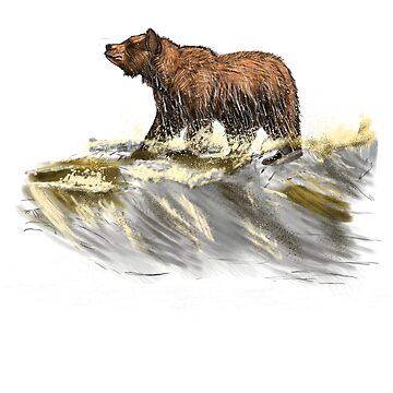 Surfing Bear Wild Life by design4tees