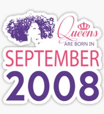 It's My Birthday 10. Made In September 2008. 2008 Gift Ideas. Sticker