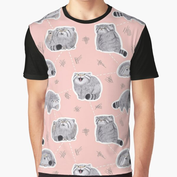 Pudgy Pallas' Cats Graphic T-Shirt