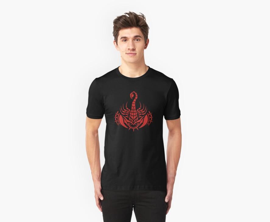 Zodiac Sign Scorpio Red by elangkarosingo