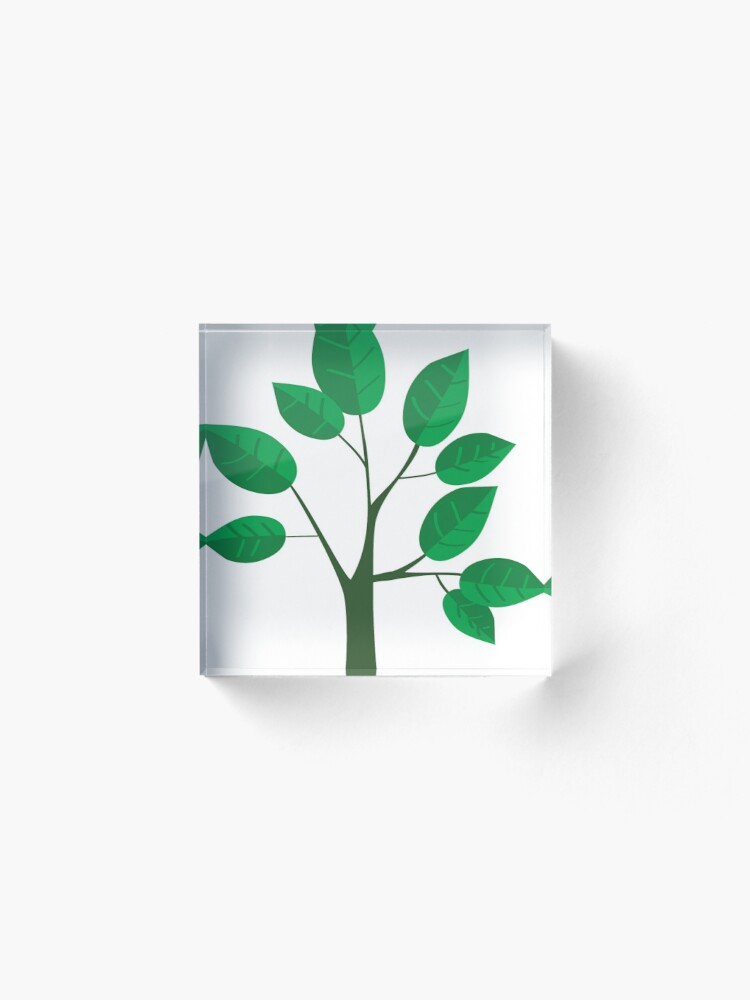 Alternate view of sapling young tree Acrylic Block