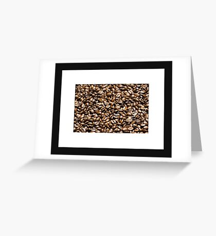 Coffee background Greeting Card