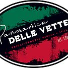 Panoramica delle Vette Italy 01 T-Shirt & Sticker  by ROADTROOPER