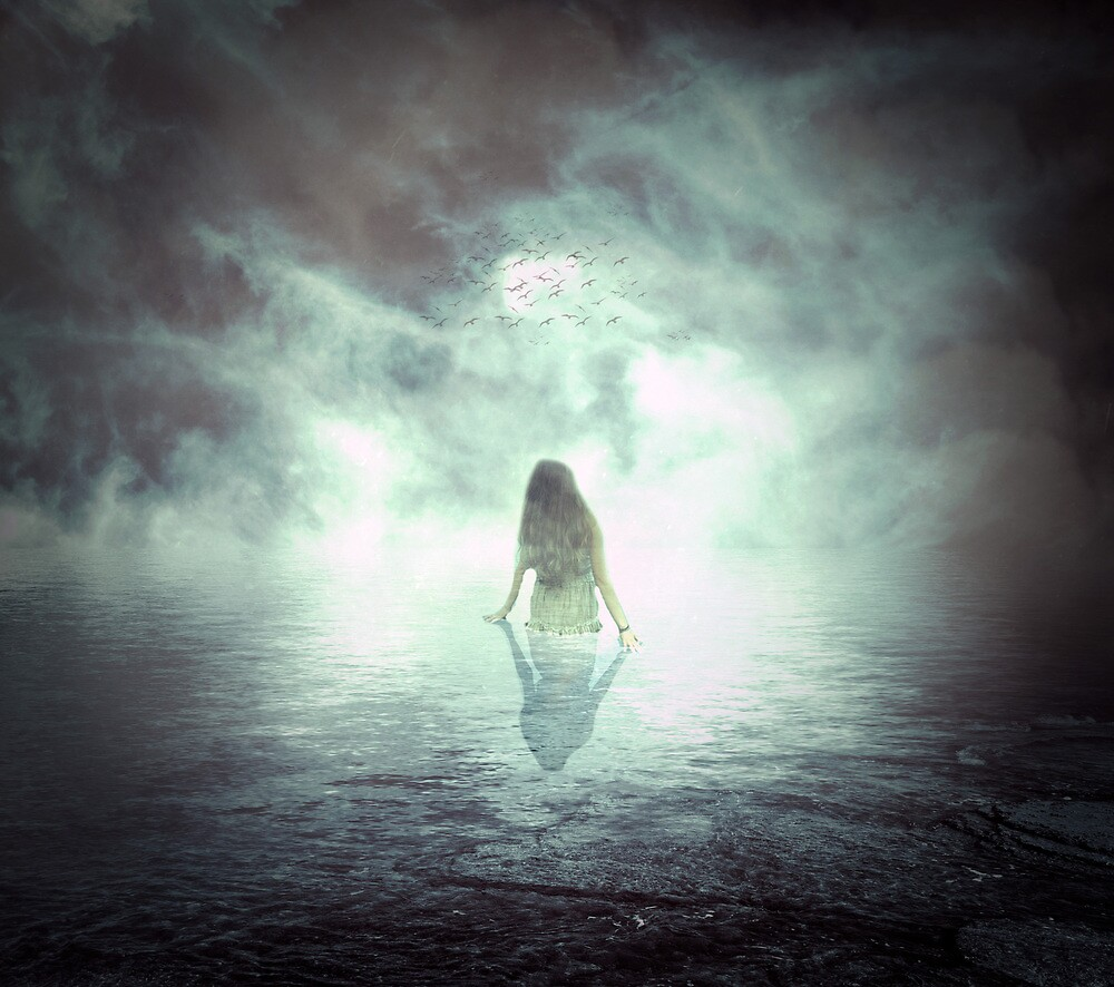 Quot Ocean Woman Of The Night Quot By Daniel Finnerty Redbubble
