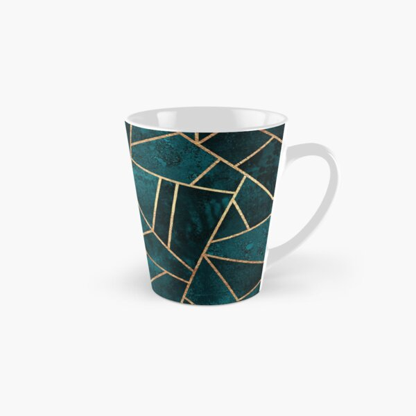 Deep Teal Stone Tall Mug