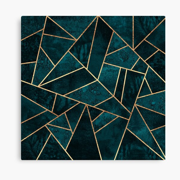 Deep Teal Stone Canvas Print