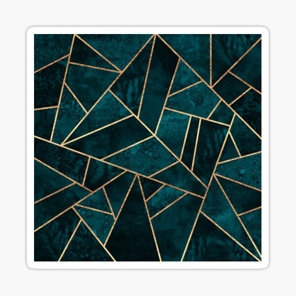 Deep Teal Stone Sticker