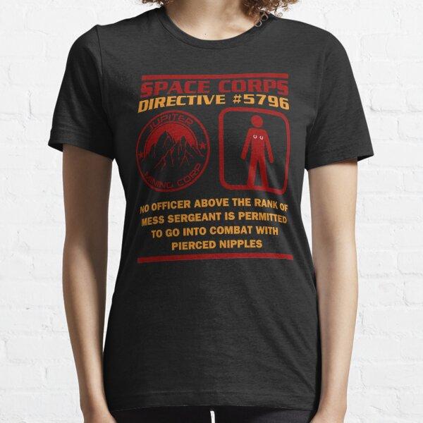 JMC Space Corps Directive #5796 Pierced Nipples Essential T-Shirt