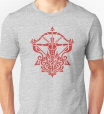 Zodiac Sign Sagitarius Red Unisex T-Shirt