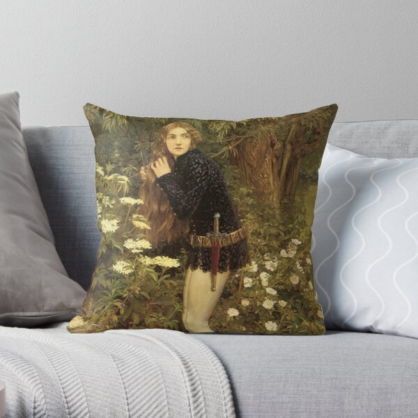 The Little Foot Page - Eleanor Fortescue-Brickdale Throw Pillow