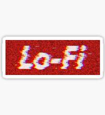 Supremed glitching Lo-Fi Sticker