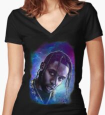 Astroworld Women's Fitted V-Neck T-Shirt