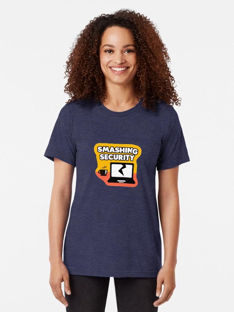 Alternate view of Smashing Security Tri-blend T-Shirt