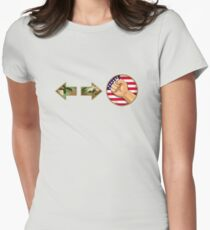 sonic boom - Guile Women's Fitted T-Shirt