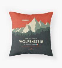 Schloss Wolfenstein Vintage Tourism - 3D Rot Bodenkissen