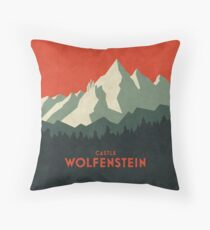 Schloss Wolfenstein Vintage Tourism - Plain Red Bodenkissen