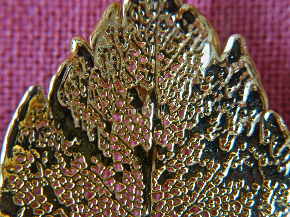 Gold Leaf on a Leaf by mrthink
