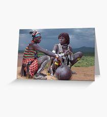 HAMAR COUPLE - ETHIOPIA Greeting Card