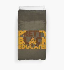 Pretty, Black and Educated African American Black College Woman Duvet Cover