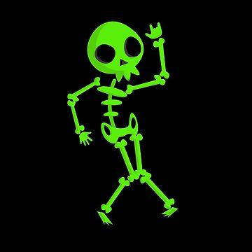 Halloween-Dabbing Skeleton Green Soccer T Shirt Halloween Costume Skull Funny Scary Gift by Girlscollar