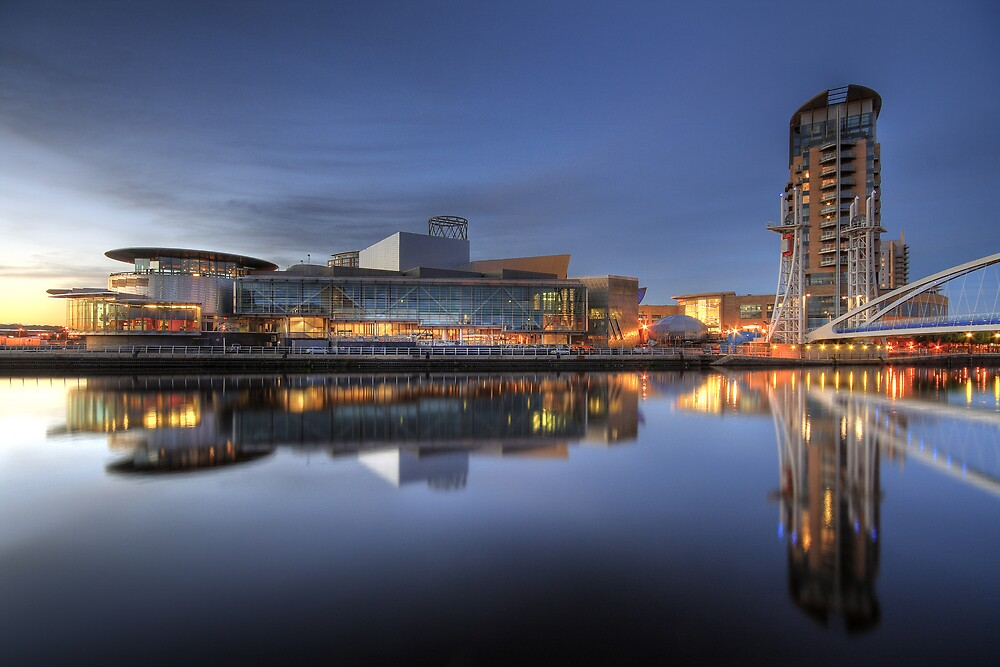 Reflections of the Lowry, Salford Quays, Manchester by Robin Whalley