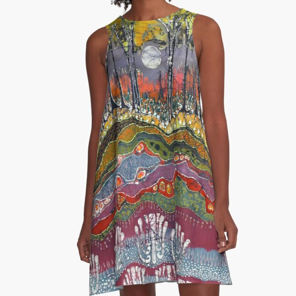Moon Over Spring A-Line Dress