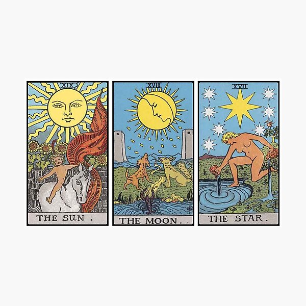 Sun Moon Star Tarot Photographic Print