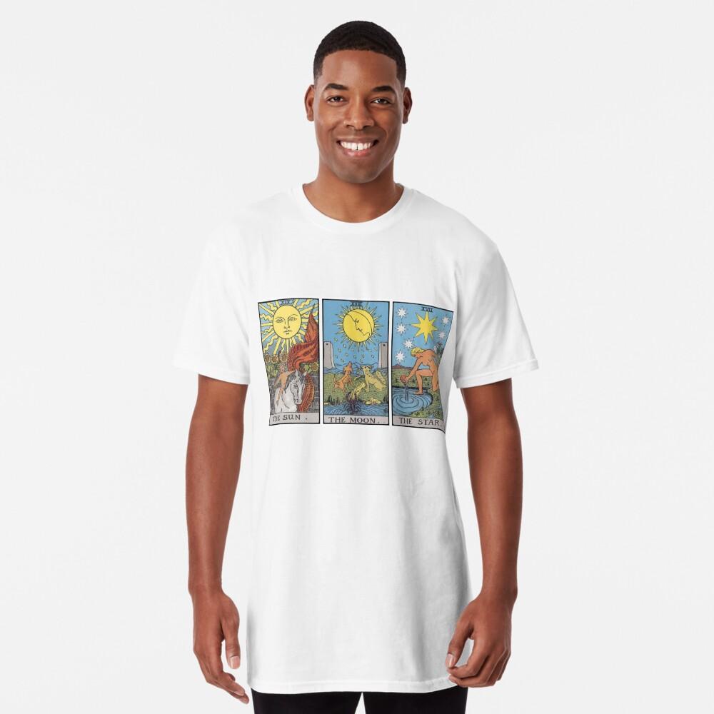 Sun Moon Star Tarot Camiseta larga