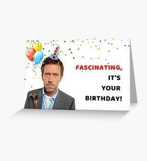 Doctor House birthday card, meme greeting cards Greeting Card