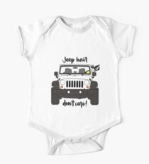 Jeep Hair Dont Care - Weiß Baby Body Kurzarm